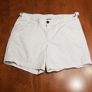 Athleta organic cotton white shorts